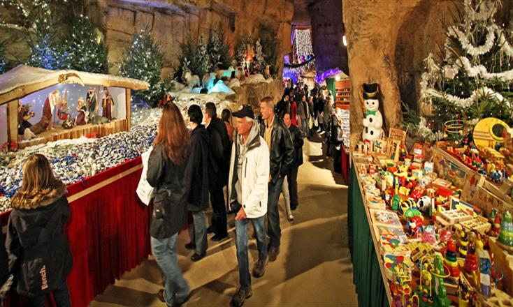 Christmas market in Valkenburg